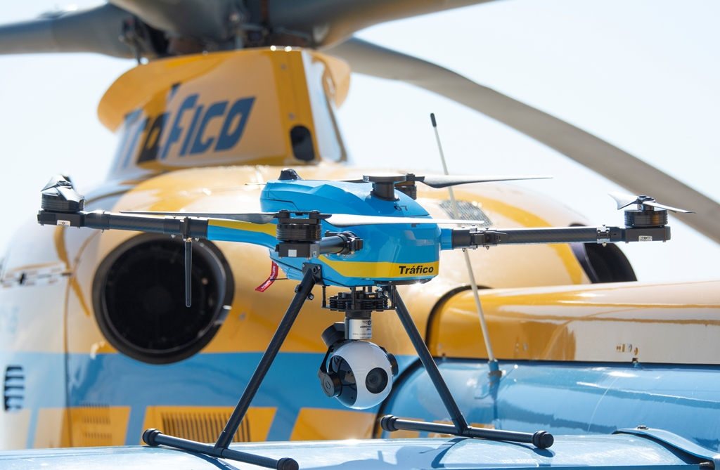 drones to monitor traffic in Spain
