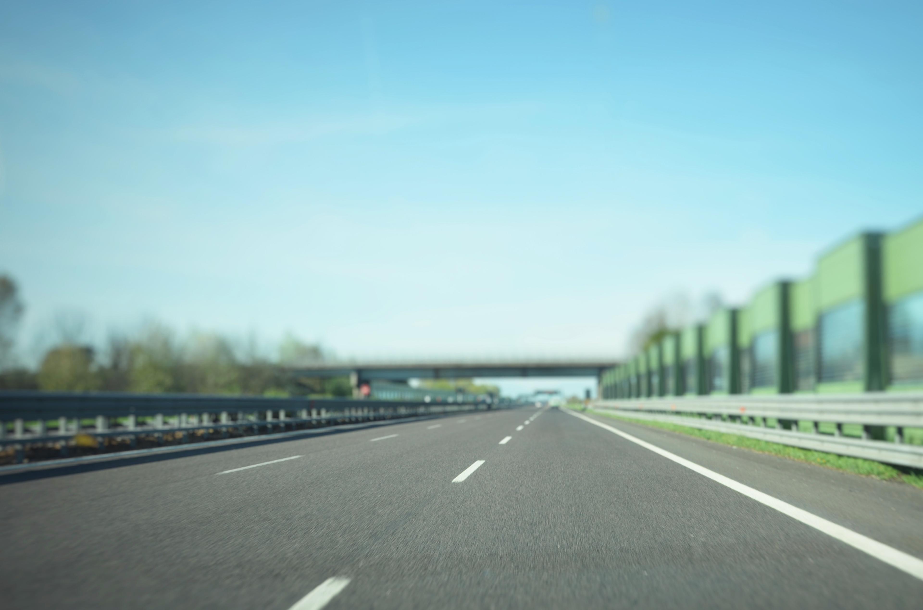Driving on a motorway in Spain