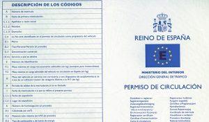 Car insurance Spain permiso de circulacion