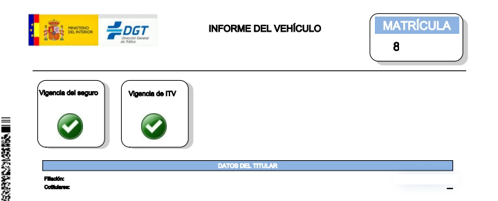 vehicle information report spain