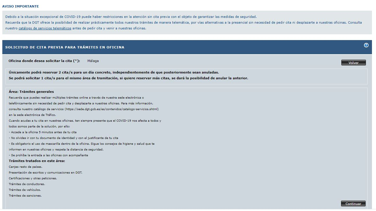 How to make an appointment with Trafico to change your UK driving licence for a Spanish driving licence