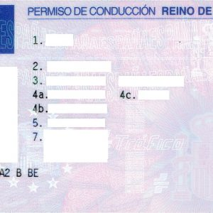 UK or Spanish driving licence